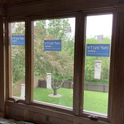 Fiberglass stained window